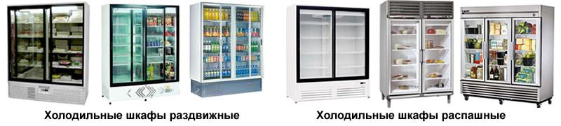 Одно и двухкамерные холодильные шкафы