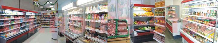 Холодильные стеллажи со встроенным холодом